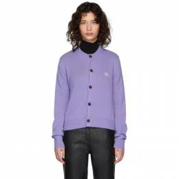 Acne Studios Purple Wool Keva Face Cardigan A60126-