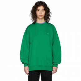 Acne Studios Green Forba Face Sweatshirt CI0010-