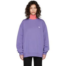Acne Studios Purple Forba Face Sweatshirt CI0010-