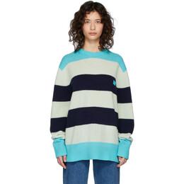 Acne Studios Blue Wool Oversized Nimah Sweater C60014-