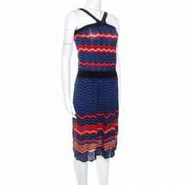 M Missoni Multicolor Chevron Knit Sleeveless Dress M 251631