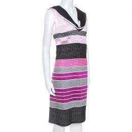 Missoni Pink and Black Knit Sleeveless Dress M 252323