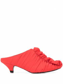Proenza Schouler туфли со сборками на среднем каблуке PS32016A9082