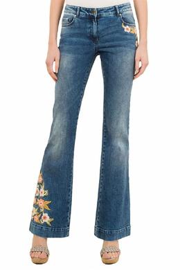 Синие джинсы-клеш Luisa Spagnoli 3090170191