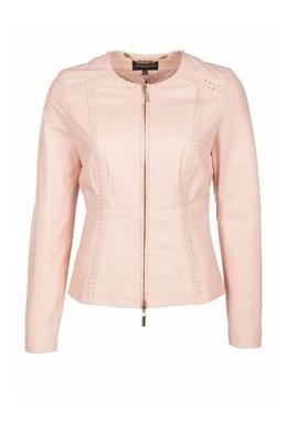Розовая кожаная куртка Luisa Spagnoli 3090170144
