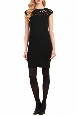 Черное платье с кружевом Luisa Spagnoli 3090170292