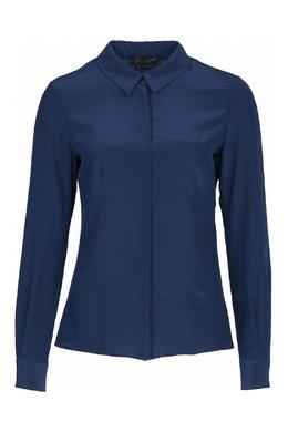 Приталенная синяя рубашка Luisa Spagnoli 3090170304