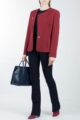 Красный пиджак с баской Luisa Spagnoli 3090170841