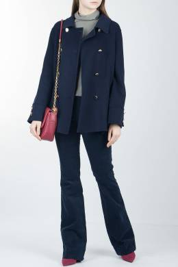 Синие брюки-клеш Luisa Spagnoli 3090170859