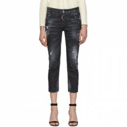 Dsquared2 Black Denim Good Girl Cropped Jeans S75LB0263 S30357