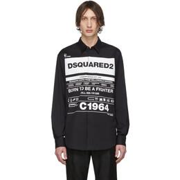 Dsquared2 Black Stretch Poplin Shirt S74DM0391 S44131