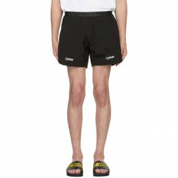Off-White Black Lounge Track Shorts OMVH001R20G380291091