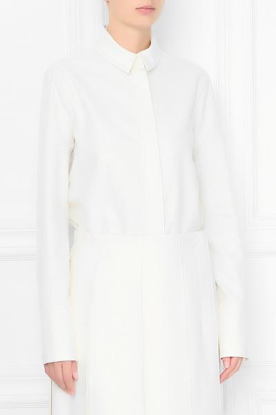 Базовая рубашка молочно-белого оттенка Jil Sander 413171569 - 3