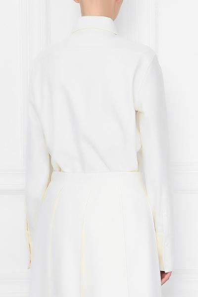 Базовая рубашка молочно-белого оттенка Jil Sander 413171569 - 4