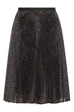 Коричневая плиссированная юбка с узором Antonio Marras 1574171307