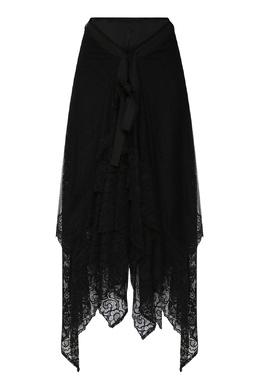 Черная юбка-миди с кружевным узором Antonio Marras 1574171309