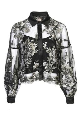 Черная блуза свободного кроя с декоративной вышивкой Antonio Marras 1574171291