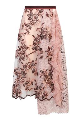 Розовая юбка миди с цветочным узором Antonio Marras 1574171310