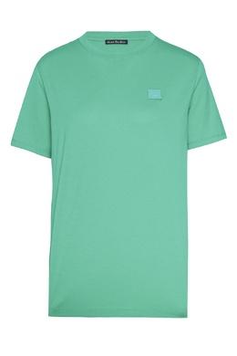 Зеленая хлопковая футболка Acne Studios 876171539