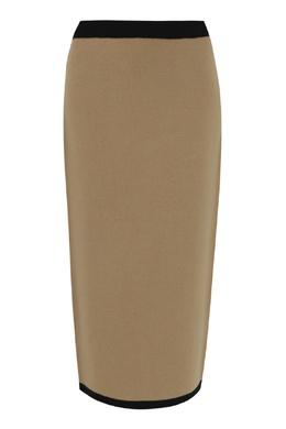Бежевая трикотажная юбка из шерсти Antonio Marras 1574171246
