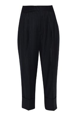 Темно-синие брюки из смешанной шерсти в полоску Antonio Marras 1574171334