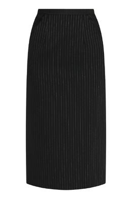 Черная юбка с узором полоска и боковыми карманами Antonio Marras 1574171301