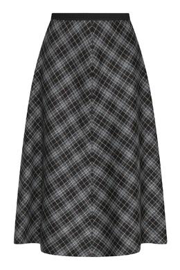 Серая юбка трапеция из шерсти с узором клетка Antonio Marras 1574171306