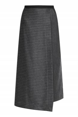 Серая юбка с запахом с узором полоска Antonio Marras 1574171304