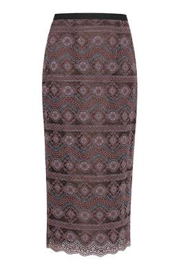 Бордовая юбка-карандаш из кружева Antonio Marras 1574171297