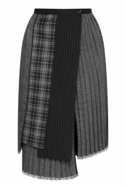 Серая плиссированная юбка с запахом Antonio Marras 1574171299