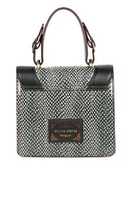 Черная кожаная сумка с узором Antonio Marras 1574171288