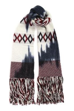 Белый шарф из шерсти с узором Antonio Marras 1574171275