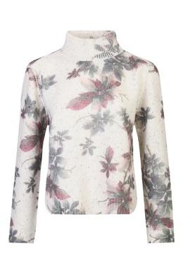 Белый шерстяной джемпер с цветочным узором Antonio Marras 1574171265