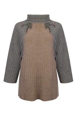 Серый свитер из шерсти с декором стразами Antonio Marras 1574171267