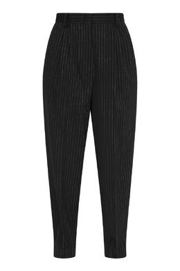 Черные брюки из шерсти с узором полоска Antonio Marras 1574171345