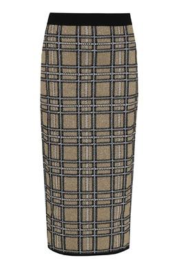 Бежевая трикотажная юбка из шерсти в клетку Antonio Marras 1574171244