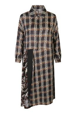 Черное платье свободного кроя с узором клетка Antonio Marras 1574171379