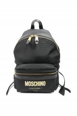 Черный рюкзак с крупным логотипом Moschino 2249172713