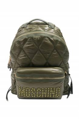 Стеганый рюкзак цвета хаки Moschino 2249172711