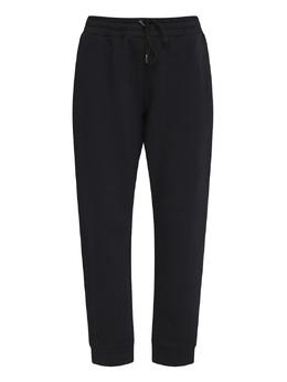 Черные брюки-джоггеры с лампасами Ermanno Scervino 1328171884