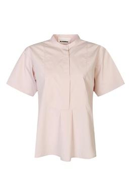 Светло-розовая хлопковая рубашка Jil Sander 413172346