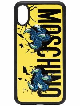 Moschino чехол Claw для iPhone X с логотипом 79078310