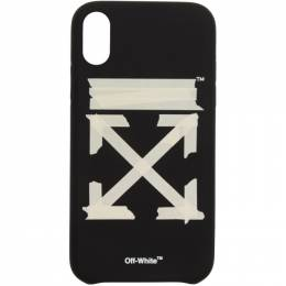 Off-White Black and Beige Tape Arrows iPhone XR Case OMPA012R202940021048
