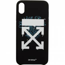 Off-White Black Dripping Arrows iPhone XR Max Case OMPA012R202940051001