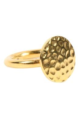 Золотистое металлическое кольцо Jil Sander 413172397
