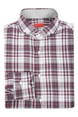 Рубашка с клетчатым рисунком в бордово-серой гамме Isaia 2328171632