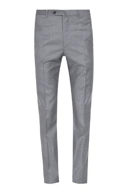 Серые брюки из шерсти Isaia 2328171431