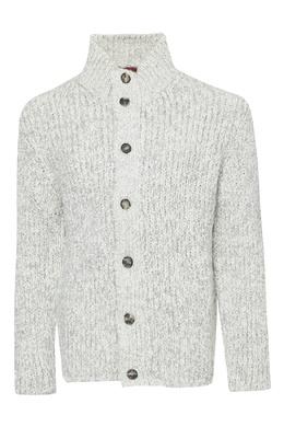 Серый свитер на молнии и пуговицах Isaia 2328171509