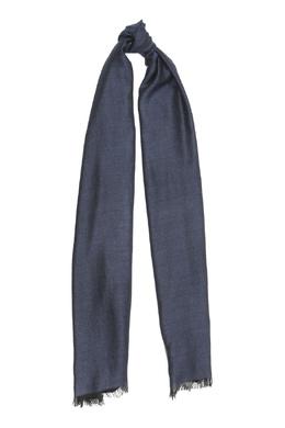 Синий шарф из кашемира и шелка Isaia 2328171567