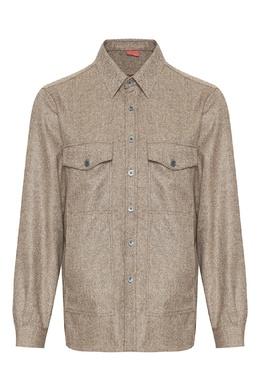 Куртка из светло-коричневого кашемира Isaia 2328171445
